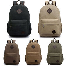 Fashion Men's Vintage Canvas backpack Rucksack laptop travel shoulder bag