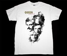 QUEEN FOREVER FREDDIE MERCURY BRIAN MAY WE WILL ROCK YOU NEW WHITE T-SHIRT