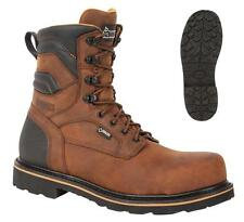 """NEW ROCKY Work Boots 8"""" GOVERNOR Safety Composition Toe WATERPROOF Leather Brown"""