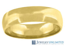 Solid 10K Yellow Gold Mens Ladies Wedding Engagement Ring Band 5mm  Size 5-13