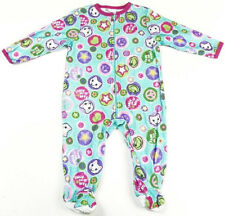 Infant Girls Sleeper One-Piece Frogs Kitty Peace Signs Hearts Too-Nite Pajamas
