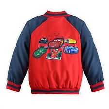 NWT Genuine Disney Store Cars Varsity Jacket Quilted Lining boys size 7/8