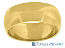 Solid 10K Yellow Gold Mens Ladies Wedding Engagement Ring Band 7mm Size 5-13