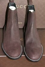NIB New GUCCI Men's Suede Leather Ankle Boots Shoes GUCCI 7-7.5 (US 7.5-8) $600