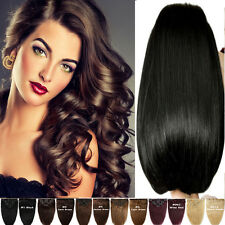 140/150/160g Double Wefted Full Head Clip In Remy Human Hair Extension US Seller