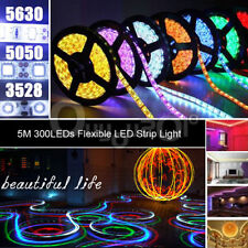 Striscia A LED 5050 3528 5630 300 LED 5M Strip Bobina Luce Caldo Freddo RGB HOT