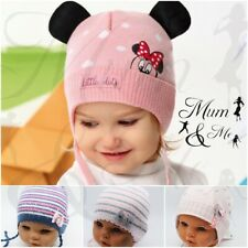 NEW Kids Toddler Girls Hat Winter Cap Tie up Warm  Warmer Beanie Lace Up