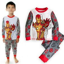 Children 1-7Y Iron Man Kids Boys Nightwear Pj's Sleepwear Set Suit Two-pieces UK