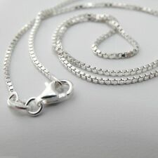 "Sterling Silver BOX Chain Necklace 925 Italy 1.2mm 16"", 18"", 20"", 22"", 24"" *NEW*"