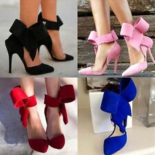 Sexy Women's Pointy Toe Gladiator High Heel Pumps Stilettos Bow Shoes Plus Size