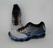 Mizuno Men Wave Prophecy 4 White, Black, Blue J1GC150009 SALE Running