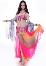 C863 Belly Dance Costume Outfit Set Bra Top Belt Hip Scarf  Hot Style Bollywood