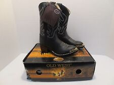 Cowboy Boots for Boys or Girls by Old West- Black- New
