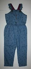 New Gymboree Denim Blue Chambray Heart Print Overalls NWT 2T 3T 4T 5T Bundled an