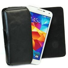 Black PU Leather Belt Clip Holster Case Pouch For Samsung Galaxy S5 SV i9600