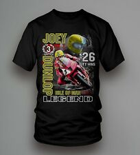 New Official Joey Dunlop Isle Of Man Legend T'Shirt