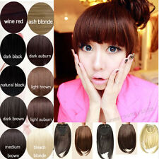 US SELLER Black Dark Brown Clip In On Bang bangs Fringe Hair Extension Sexy ss51