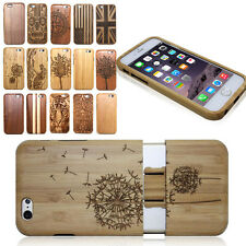 New Bamboo Wooden Wood Hard Back Case Cover Protector for Apple iPhone 6S 6 Plus