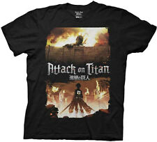 Attack On Titan Fire Keyart Adult T-shirt