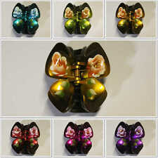 1Pcs Butterfly Hair Clips Hand Painted Jaw 1.5 inch Accessory Claw Comb  HC Pin