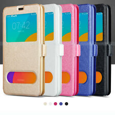 PU Leather Slik Magnetic View Window Flip Folio Stand Case Cover For Meizu MX4