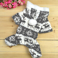 Dog Baby Soft Warm Winter Hoodie Jumpsuit Coat Clothe Costume for Chihuahuas