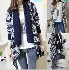 New Women Long Sleeve Knitted Cardigan Loose Sweater Outwear Jacket Coat Sweater