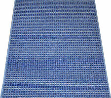 Michelle Blue Washable Non-Skid Carpet Rug Hall Stair Floor Mat Kitchen Runner