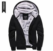 Men Winter Sweatshirts Jacket Thick Velvet Hooded Coat Hoodies Baseball uniform