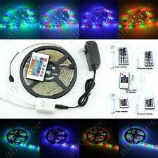 5M SMD 3528 RGB 60/M Flexible LED Strip 24 / 44 Key IR 12V 2A Power Adapter