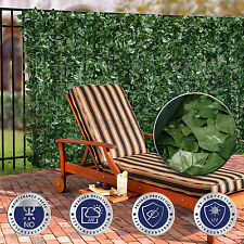 "39"" Tall Faux Ivy Leaf Privacy Fence Screen Décor Panels Windscreen Patio Garden"