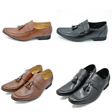 Mens Italian faux suedeTassels Casual Party Slip On Shoes Size 6 - 11 loafers