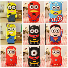 For Samsung Galaxy S5 Note 3D Super Hero Cute Cartoons Silicone Phone Cover Case