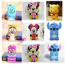 For Iphone 6 6plus 5/4S 3D Disney Winnie Pooh Cartoons Silicone Phone Cover Case