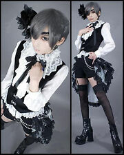 Black Butler Costume Cosplay Kuroshitsuji Ciel Dress Women Lolita Outfit  RG