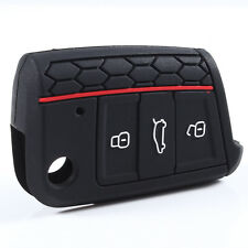 Silicone Key Cover for VOLKSWAGEN Golf 7 Skoda Octavia A7 Black Blue Red