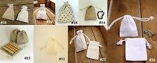 Pretty Country Style Small Drawstring Linen Bag Pouch Wedding Style Favour Bags