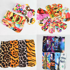 3D Printed Unisex Harajuku Type Low Cut Ankle Socks Multiple Pattern Woman Sock