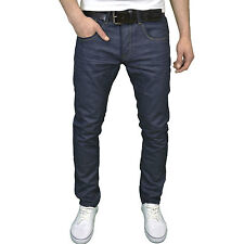 Crosshatch Mens Designer Slim Fit Rinsewash Jeans, w/ Free Belt, BNWT