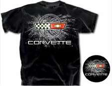 Corvette C4 Cross Flags Chevy GM TEE T-SHIRT AMERICAN  MUSCLE CARS