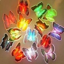 10 PCS 5PCS 1PC Colors Changing Butterfly LED Night Lights Lamps Home Decor New