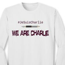 WE ARE CHARLIE T-shirt Freedom Speech French Support France Long Sleeve Tee