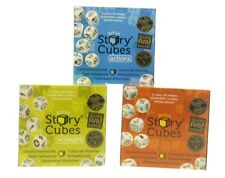 NEW RORY'S STORY CUBES GREEN BLUE AND ORANGE SETS STORY TELLING DICE GAME