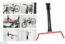 BICYCLE  BIKE STORAGE RACK STEEL HOOK RED HEAVYDUTY  FITTINGS WORK STAND DEPOT