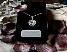 Family~In-Law~Friends~Austrian Crystal Necklace POEM JEWELRY Gift Box #ET1