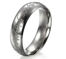 Titanium Ring Wedding lotr Lord of Rings The One Silver Engagement Free Delivery