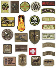 Rothco Military Combat  Morale Patches With Hook (VELCRO) Back