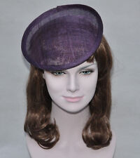 High quality sinamay binding large saucer sinamay base fascinator  hat
