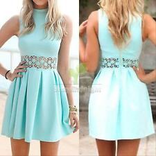 New Sexy Women Summer Sleeveless Casual Evening Party Cocktail Short Mini Dress