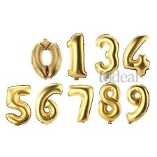 12x Number 0-9 Foil Balloons Birthday Wedding Party Anniversary Decoration